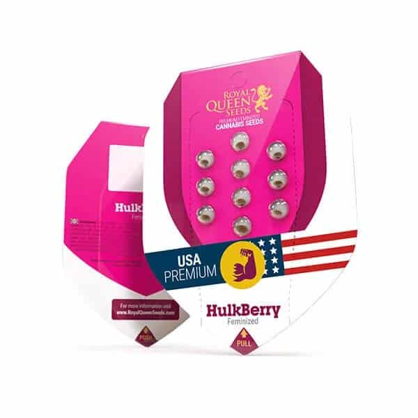 Buy HulkBerry Feminized Cannabis Seeds from Royal Queen Seed