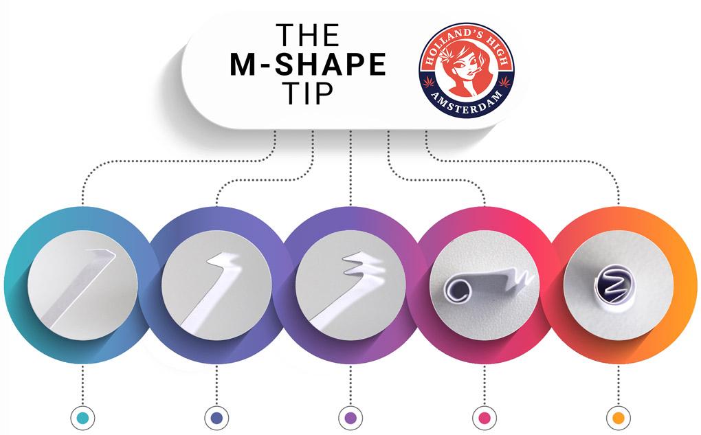 m shape rolling tip